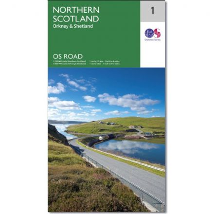 Ordnance Survey Road Map 1 - Northern Scotland